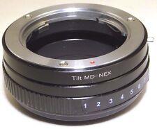 TILT Minolta MD Lens mount adapter Ring to Sony NEX E Camera NEX ILCE VG10 A7R 2