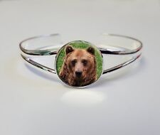 Bear On A Silver Plated Bracelet Bangle Costume Jewellery Ladies Gift L98