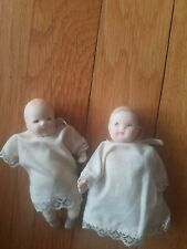 "Dynasty Doll bisque babies 4"" Rope joints."