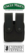 NEW Uncle Mike's Black Double Pistol Mag Case Tactical Duty - 88361 - Police
