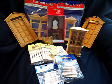 FINAL CLEARANCE! HUGE LOT DOLLHOUSE-FURNITURE/DOORS/WINDOWS/CORNER CAB/NEWELL P