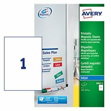 Avery J8867-5 Printable Magnetic Signs, 1 magnet Per A4 Sheet