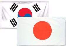 3x5 3'x5' Wholesale Combo Set South Korea & Japan Japanese 2 Flags Flag