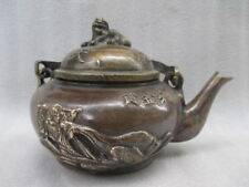 Chinese manual sculpture collecting old copper gold bag fish pot