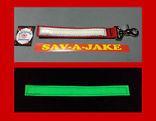 Sav-A-Jake Firefighter Glow/Reflective Glove Strap Trigger Snap - Red