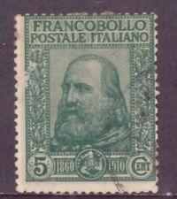 1910 Garibaldi Cinquantenario Risorgimento Centesimi 5 + 5  Catalogo 87 Usato