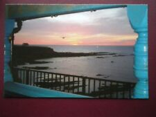 POSTCARD NORTHUMBERLAND CULLERCOATS SUNRISE FROM WATCH HOUSE