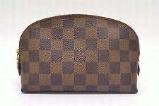 Authentic Louis Vuitton Damier Canvas Pochette Cosmetic Travel Pouch Bag LV Make