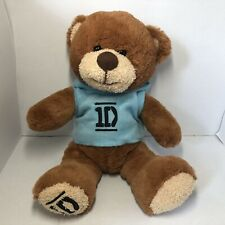 Goffa One Direction 1D Brown Teddy Bear Blue Hoodie Plush Toy Rare Collectable