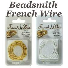 Beadsmith French Wire, Bullion Gimp, Choose Size, Colours, Silver, Gold, Rose...