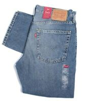 Levi's Mens 541 Athletic Straight Fit Tapered Zip Jeans Blue Denim Stonewashed
