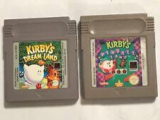 2 NINTENDO GAMEBOY GAME BOY GB GAME CARTRIDGES KIRBY'S DREAM LAND + PINBALL LAND