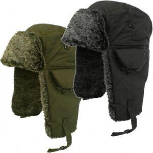 Mens Ladies Showerproof Waterproof Russian Trapper Faux Fur Winter Hat Ear Flap