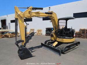 2001 Caterpillar 305 SR Offset Boom Mini Excavator Rubber Tracks Backhoe bidadoo