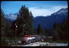 Original Rail Slide - BCOL British Columbia Railway 4601+ Mons BC 9-5-1998