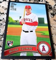 MARK TRUMBO 2011 Topps BLACK SP Rookie Card Logo RC 34/60 Angels Orioles 218 HRs