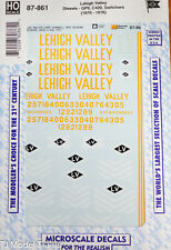 Microscale Decal #87-861 Lehigh Valley Diesels - GP9, C420, Switchers (1970-76)