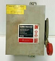 Cutler Hammer DH361UDK 30Amp 600V 3 Pole None Fusible Disconnect Switch  74D