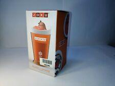 Zoku Slush And Shake Maker, Orange Outer Sleeve, Inner Core in Freezer, Spoon