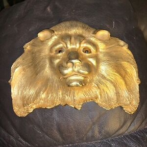 Vintage Classic Christopher Ross Belt Buckle Lionhead 24ct gold plate
