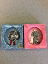 LOT OF 2 ORNAMENTS - OUR FIRST CHRISTMAS PHOTO FRAME & ANGEL LOVE - NIB