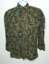 Mossy Oak Men's Vintage Heavyweight Flannel Hunting Camouflage Ls Shirt S Camo