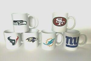 NFL Coffee Mug 11oz White with Team Logo Ceramic