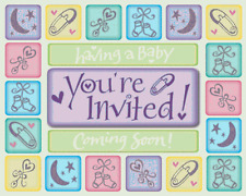 """Creative Converting Baby Shower """"Coming Soon"""" 50 Invitations & Envelopes"""