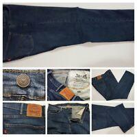 LEVI'S 505 Cowboy men Jeans 38 X 30 Well worn Distressed Blue Denim