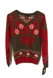 NWT Tampa Bay Buccaneers Women's V Neck Sweater Size Small
