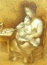 Framed Mid-Century Modern Signed Numbered Limited Edition Print Mother And Child