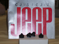 CJ Laredo, Jeep CJ hood bumpers, Wrangler hood bumpers, (4 bumpers)