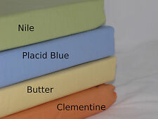 Full Flat Sheet Placid Blue 280TC Company Store Cotton Sky Periwinkle Percale