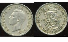 ROYAUME UNI  one shilling 1947 ( rev ENGLISH  )