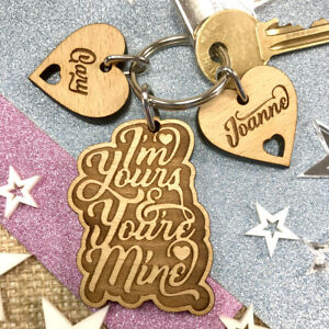 Personalised Birthday Gift for Her Him 5th Anniversary Wedding Couple Keyring