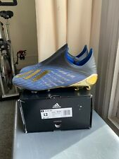 Adidas X 19+ Firm Ground FG Size 12 Soccer Cleats Blue Gold Rare F35320