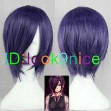 Tokyo Ghoul Tokyo Guru Toka Kirishima Touka Anime Short purple blue Cosplay wig