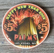 New listing Palms Las Vegas $5 Happy New Year *Uncirculated* Limited To 800