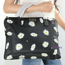 NWT Kate Spade Blake Avenue Daveney Crossbody Laptop Bag WKRU4333 Black Daisies