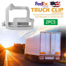 2PCS Aluminum Alloy Truck Cap Topper Mounting Clamp For Silverado Sierra F150