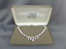 Nolan Miller Pink/Lavender Diamonique CZ Ice Mini Bib Crystal Drop Necklace NIB