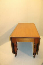 Antique 19th C. American Light Solid Walnut Drop Leaf Dining Breakfast Table