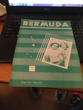 Sheet Music: Bermuda by Cynthia Strother 1951