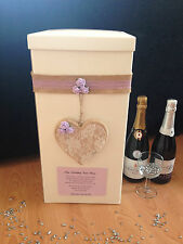Wedding Card Post Box - Hanging Wooden Lace Heart - Lilac CLOSING DOWN SALE