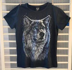 Men's Black 3DPrinted Animal Wolf  Graphic T-Shirt