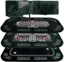 Casino 3-in-1 Tri-fold Poker Craps Or Roulette Table