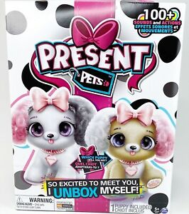 Present Pets Fancy Puppy Interactive Plush Pet Toy 100 Sounds New in Box