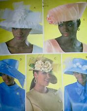 Butterick PATTERN #B4146  MISSES' HATS Five Styles Church Special   RARE UNCUT!