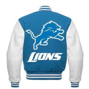 NFL  Detroit Lions  Rare beautiful Varsity jacket small medium  Large XL 2XL 3XL