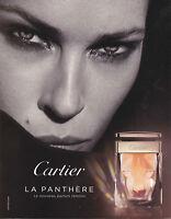 ANNONCE PUBLICITAIRE - PAPER ADVERT - COUPURE MAGAZINE CARTIER LA PANTHERE